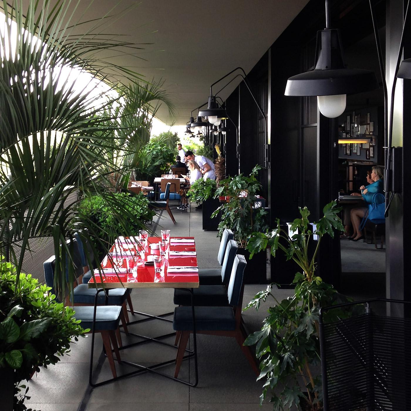Ceresio 7 restaurant balcony in Milan