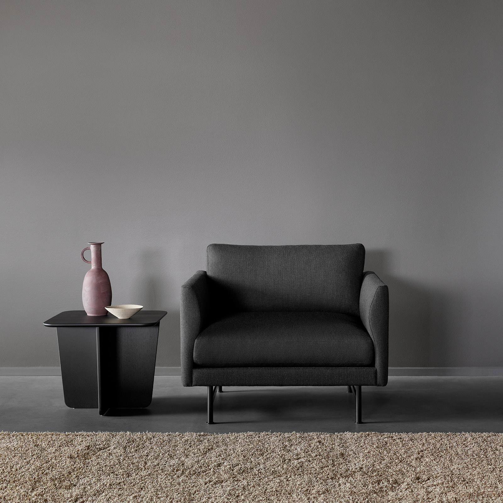 Fredericia, Calmo dark grey fabric armchair