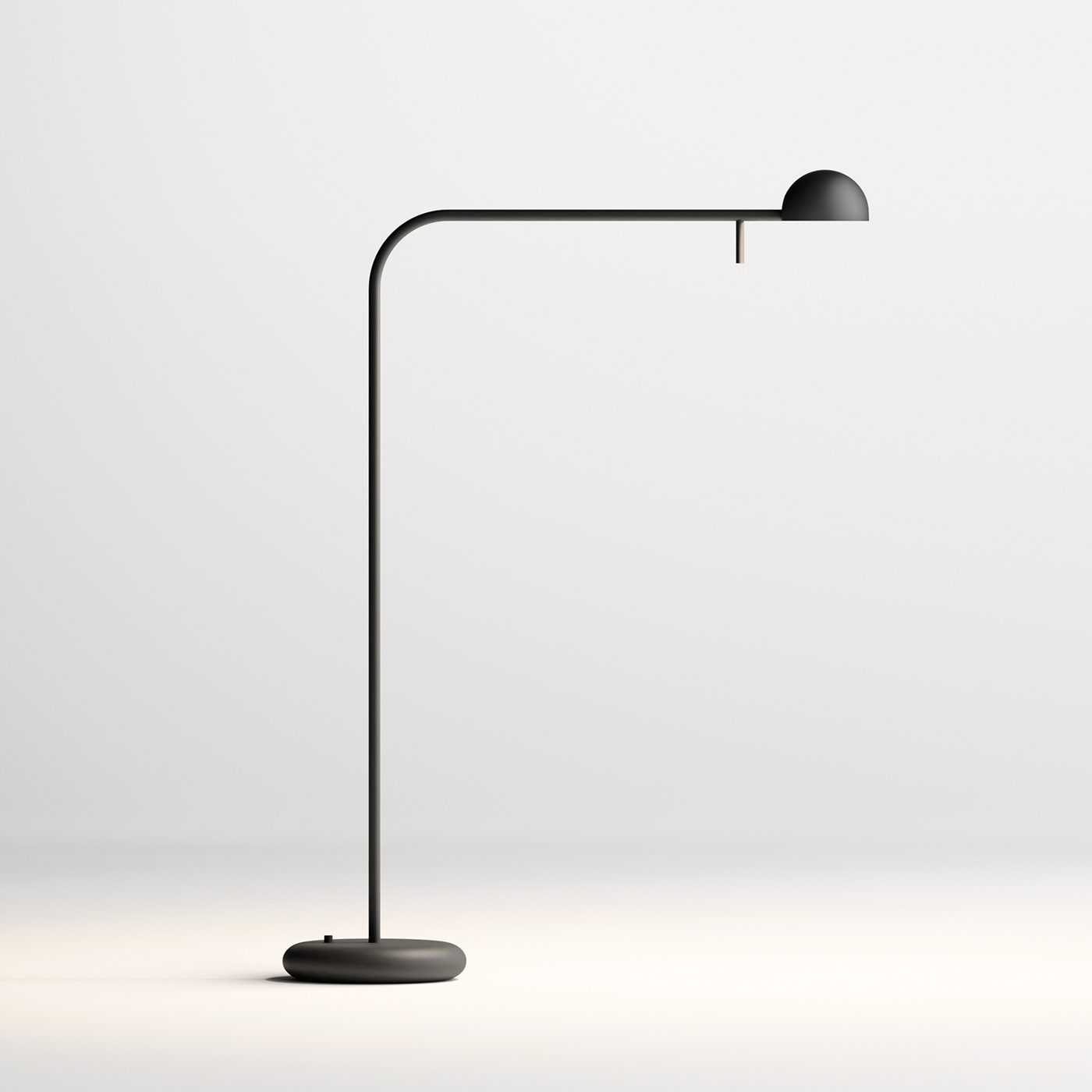 Pin table lamp in black by Vibia