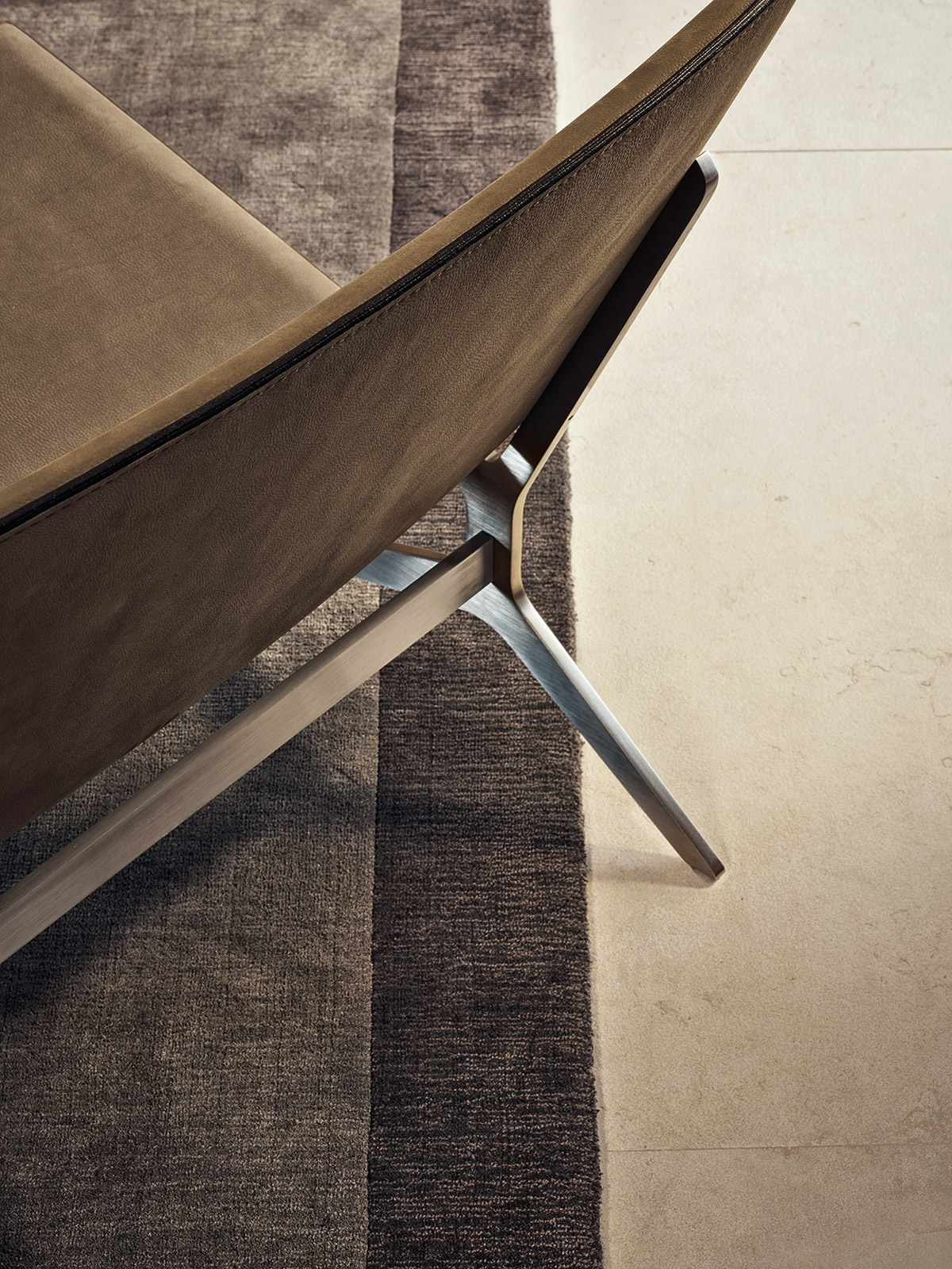 Detail of Kay Lounge armchair by Poliform