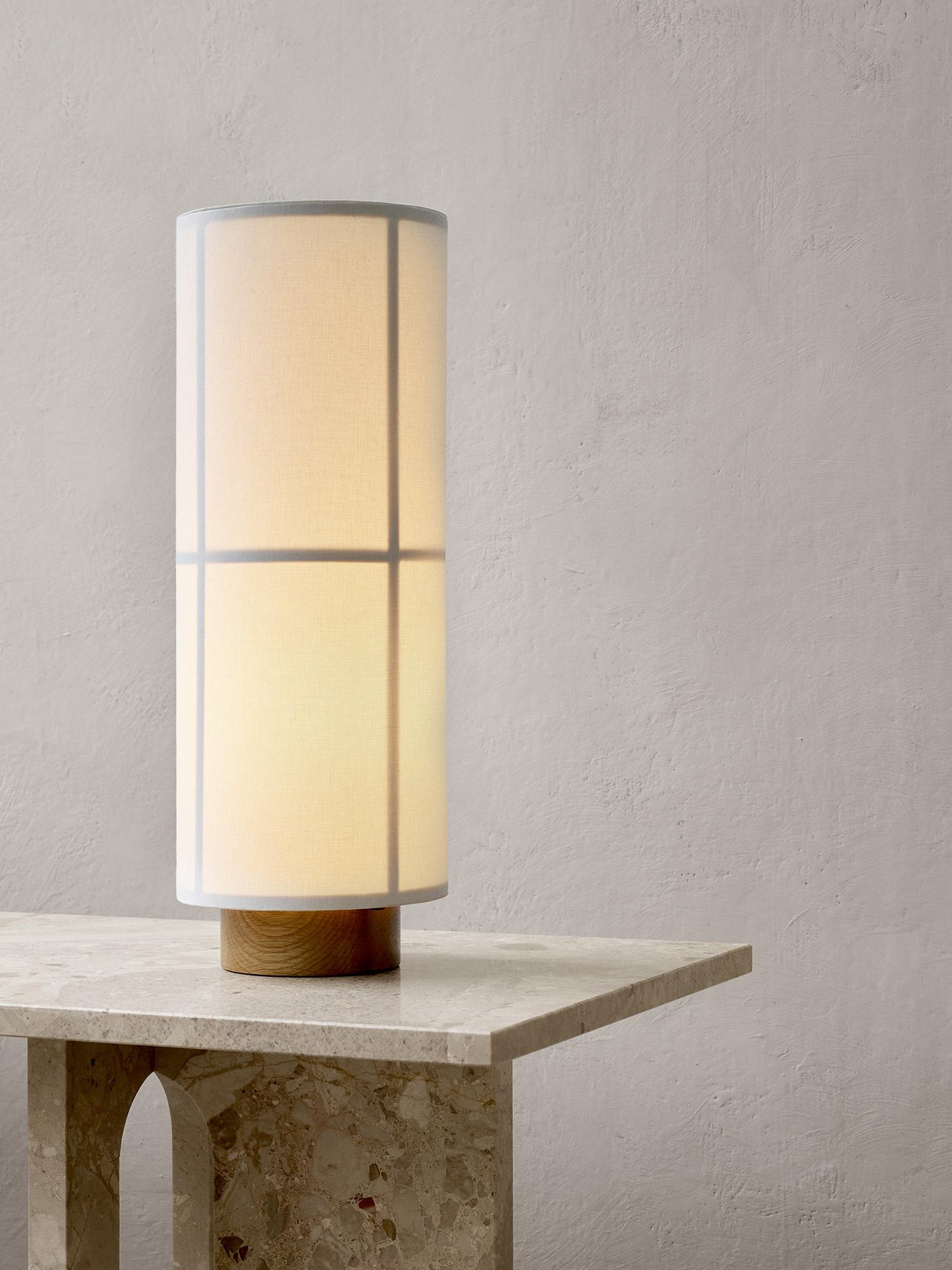 Hashira table lamp against grey wall