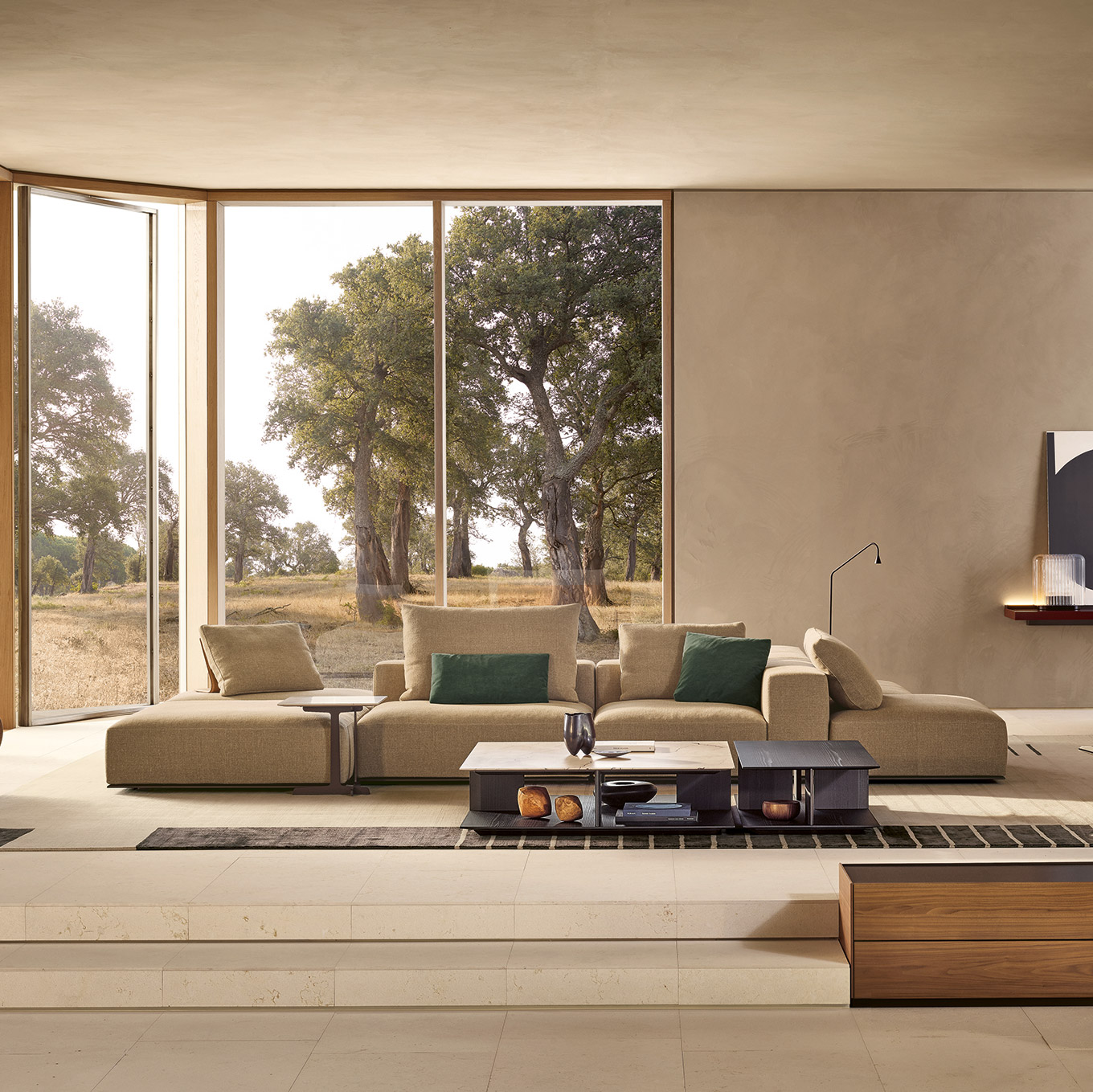 Westside sofa by Poliform in modern luxury Italian villa
