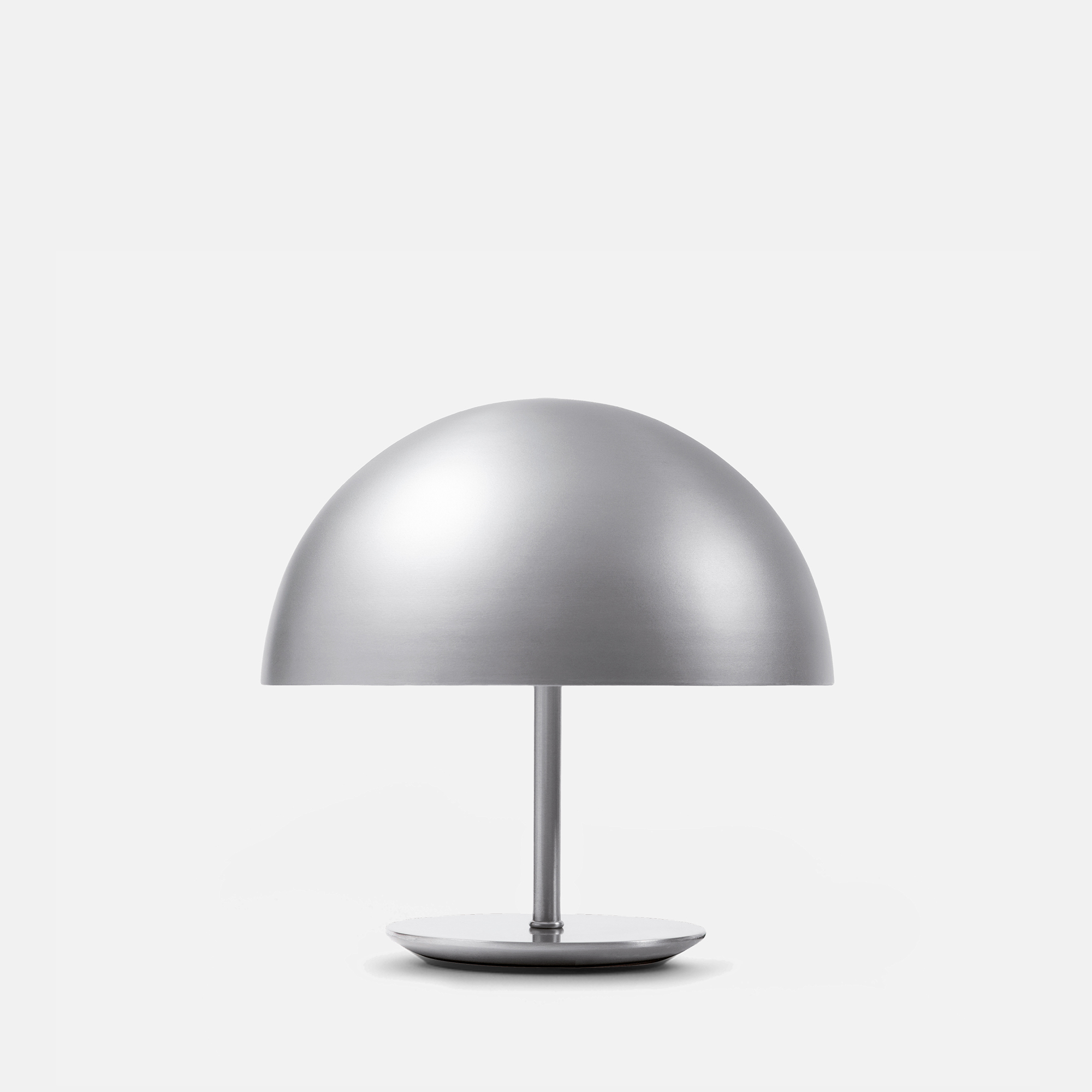 small aluminium dome table lamp