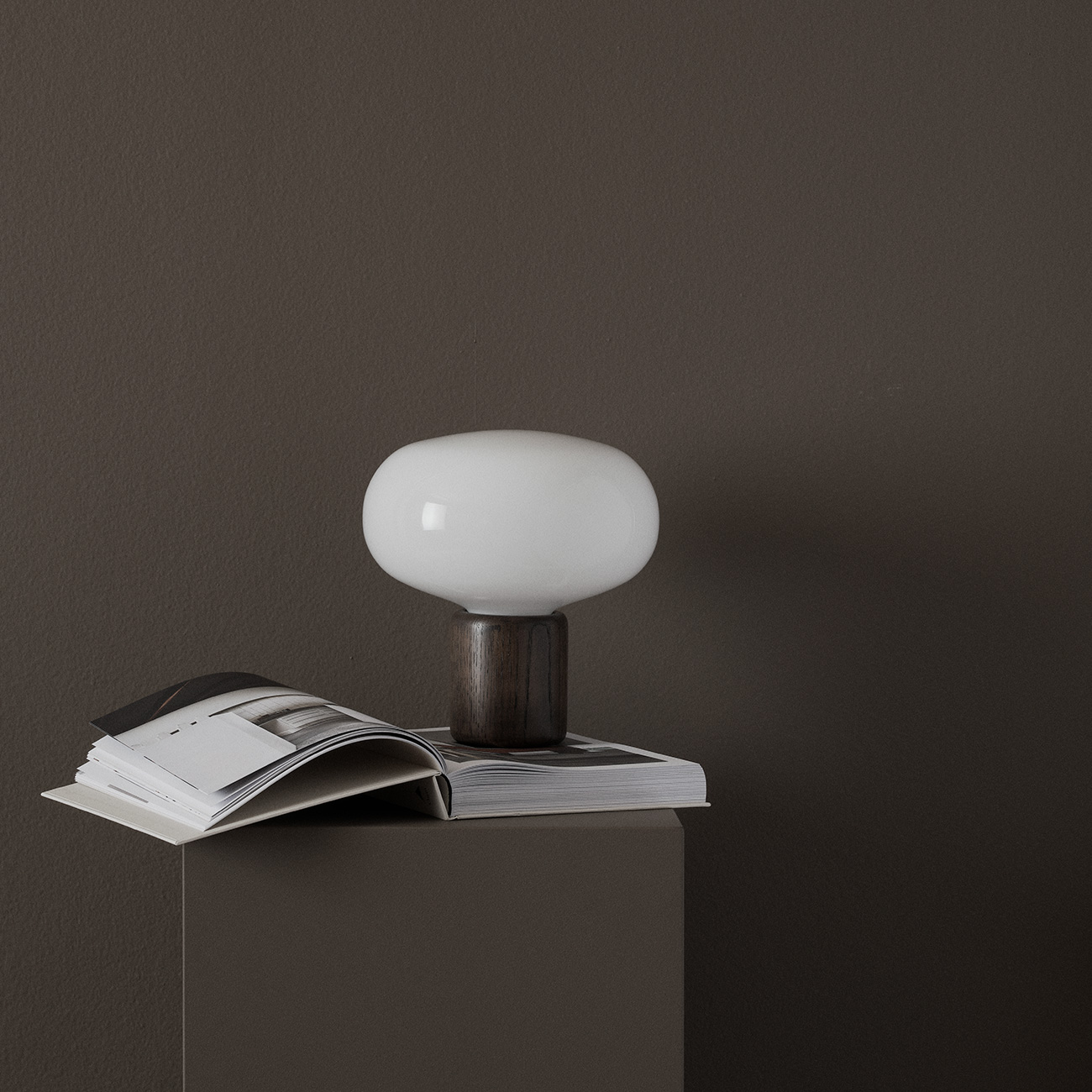 Karl-Johan table lamp with smoked oak base by New Works