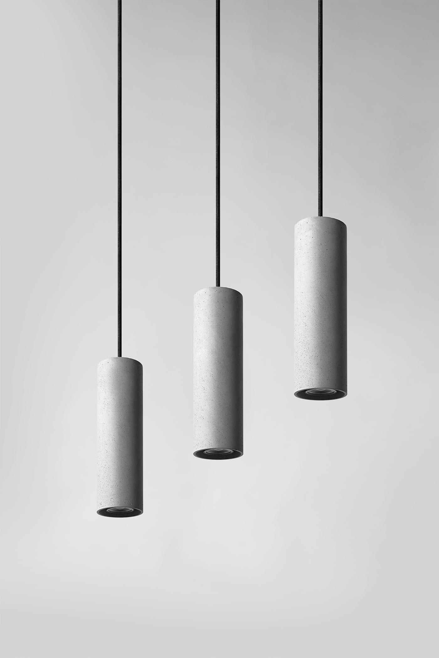 Zhu concrete pendant light by Bentu
