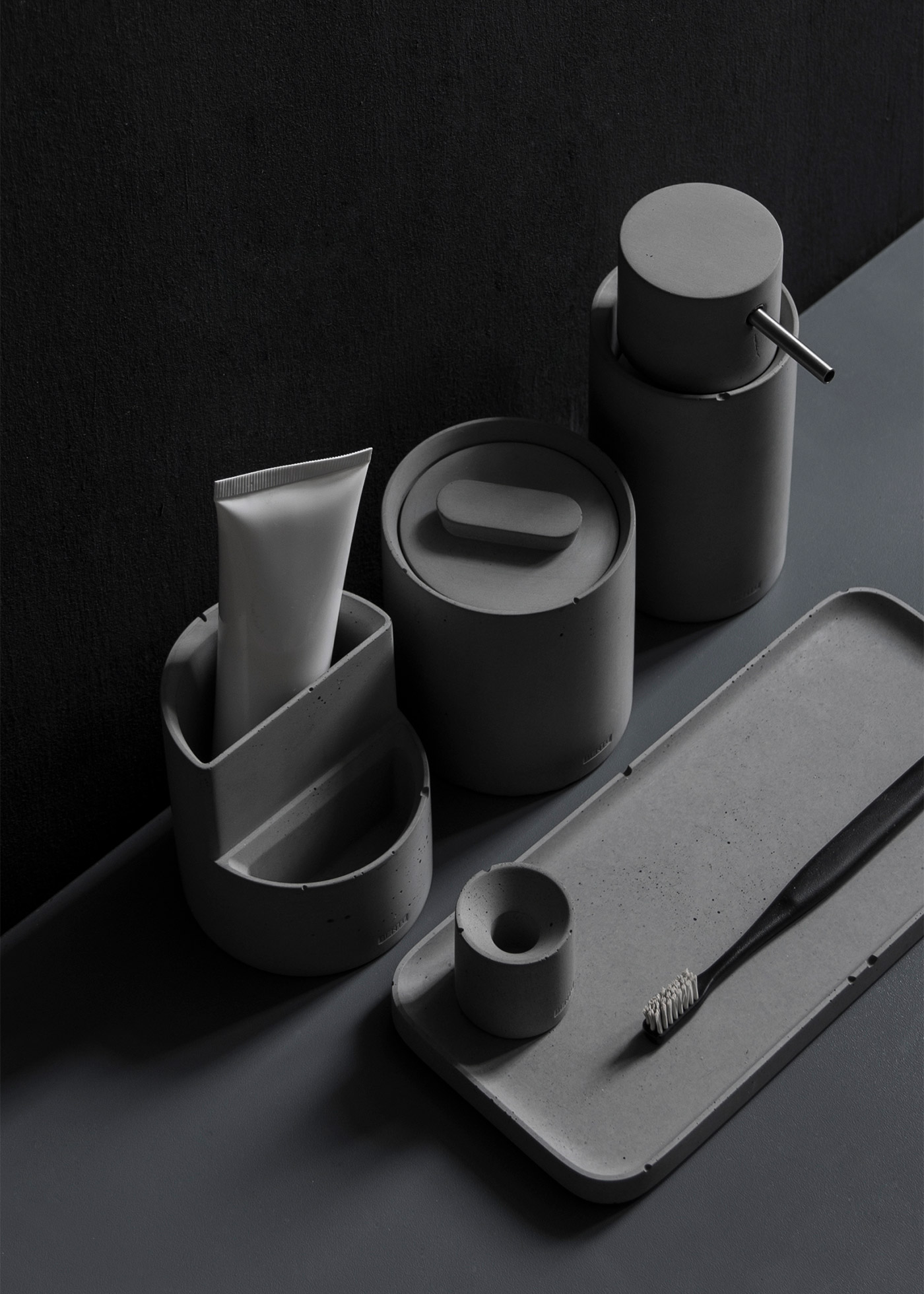 concrete bathroom accessories