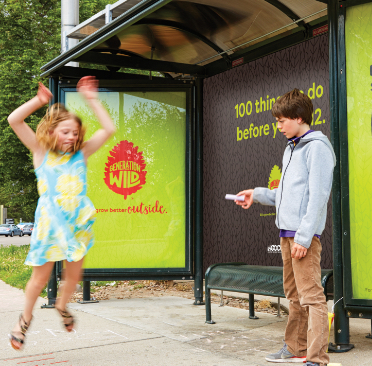 Generation Wild bus shelter