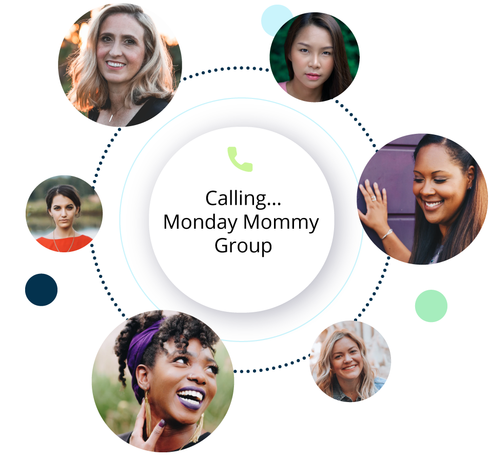 Monday Mommy Group chat circle
