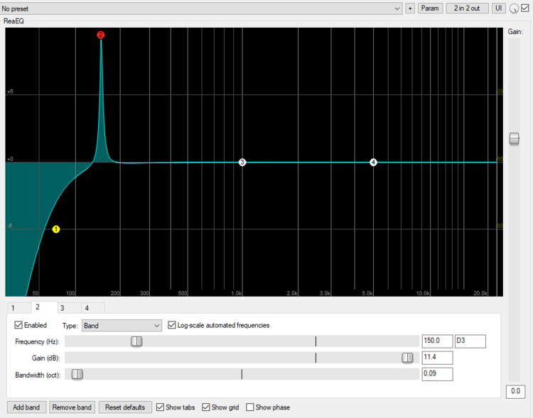 Increase the notch to overstate the EQ effect while sweeping.