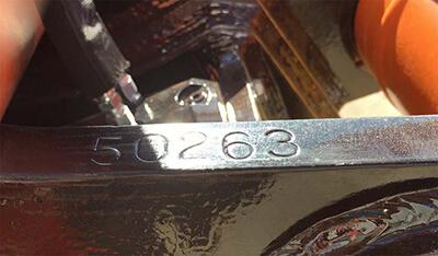 Wedgelock stamped serial number