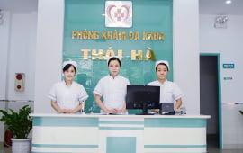 Khu vực tiếp tân phòng khám Thái Hà