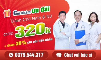 Chi phí khám phụ khoa ưu đãi 320k