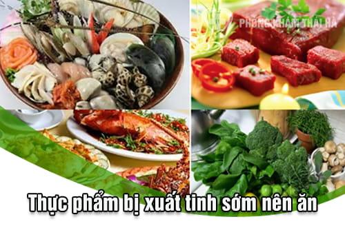 Thực phẩm khi bị xuất tinh sớm nên ăn