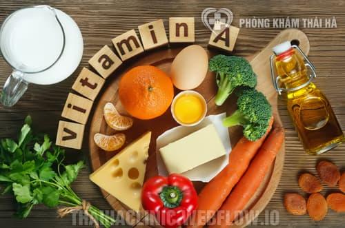 Một số loại thực phẩm giàu vitamin A
