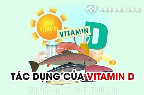 Tác dụng của vitamin D tới sức khỏe con người