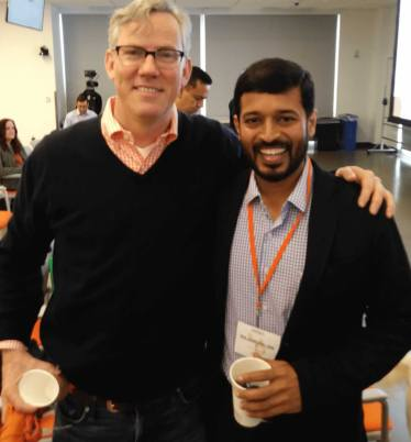 raj founder of inbound mantra hubspot partner with brian founder of hubspot at partner day 2017