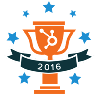 2016 hubspot impact award winners for best graphic design award