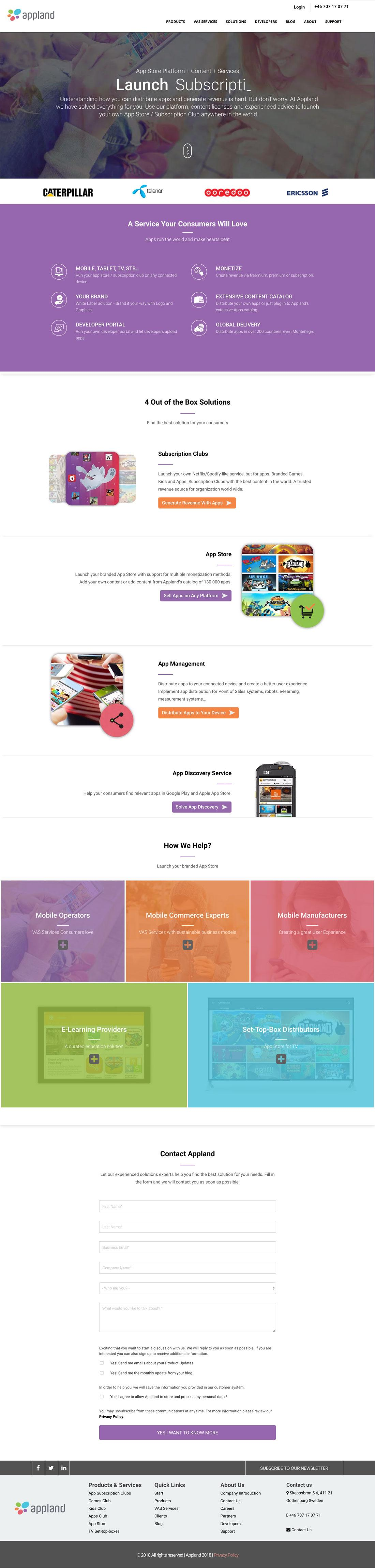 Image showing website designing and development process executed for inbound mantra client appland