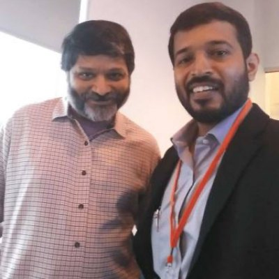 Raj Founder Inbound Mantra with Dharmesh Founder HubSpot at HubSpot Partner Day in Boston