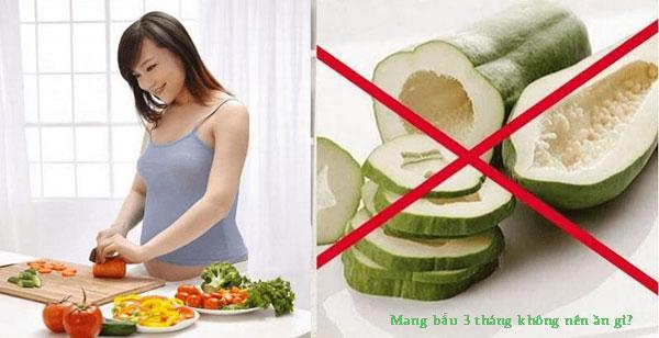 Mang thai 3 tháng đầu không nên ăn gì?