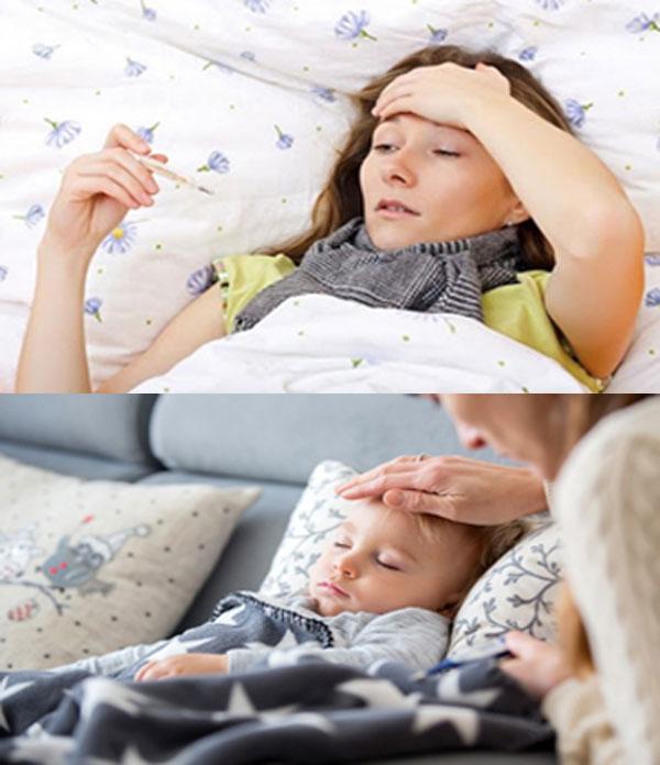 Triệu chứng bệnh sốt siêu vi ở người lớn và trẻ em