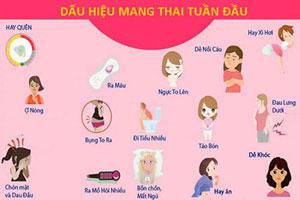 15 dấu hiệu mang thai tuần đầu tiên dễ nhận biết nhất