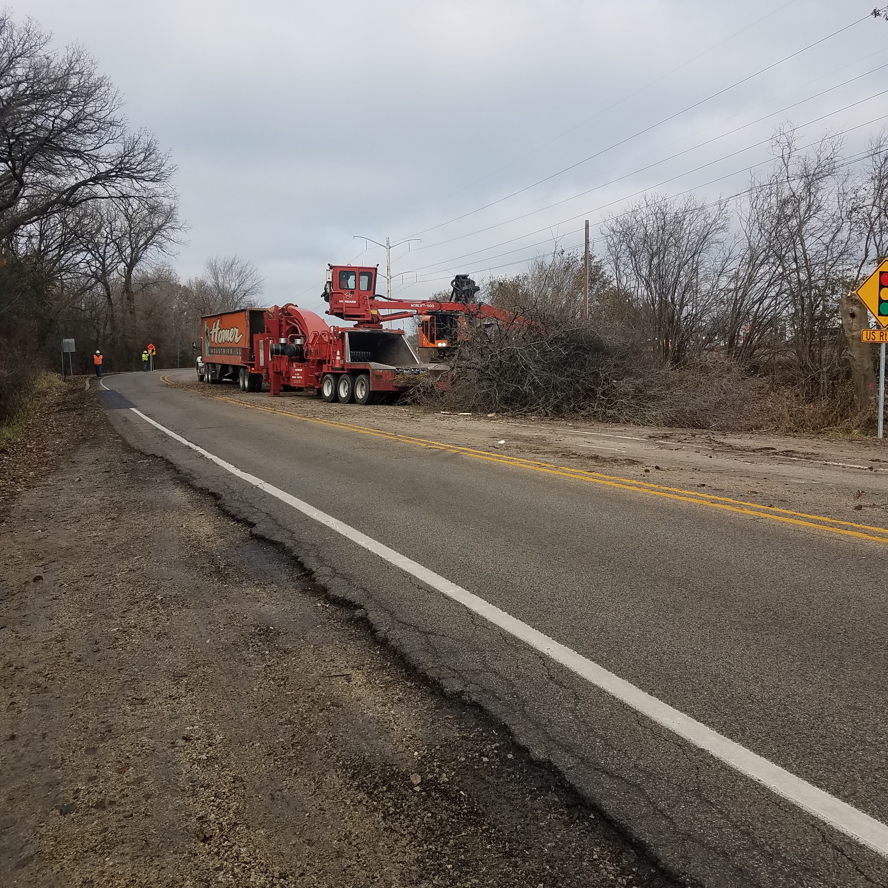 Tree Removal on Hart Road, South of US Route 14