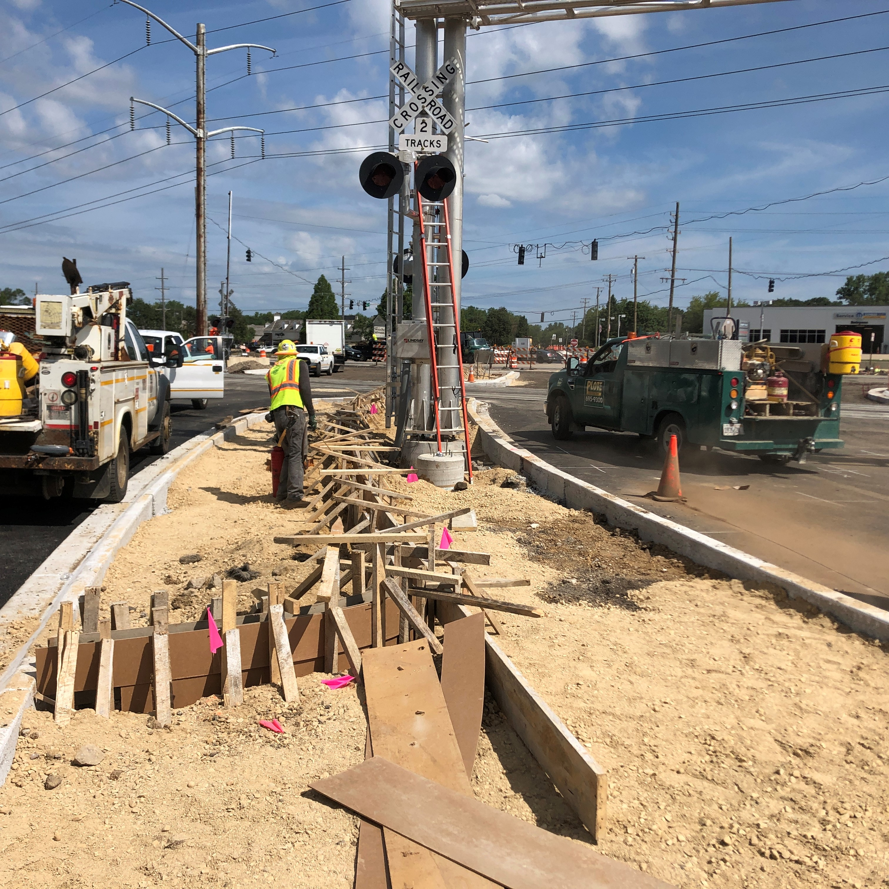 08/05/2020 Concrete Median on Hart Road South of the Railroad Tracks