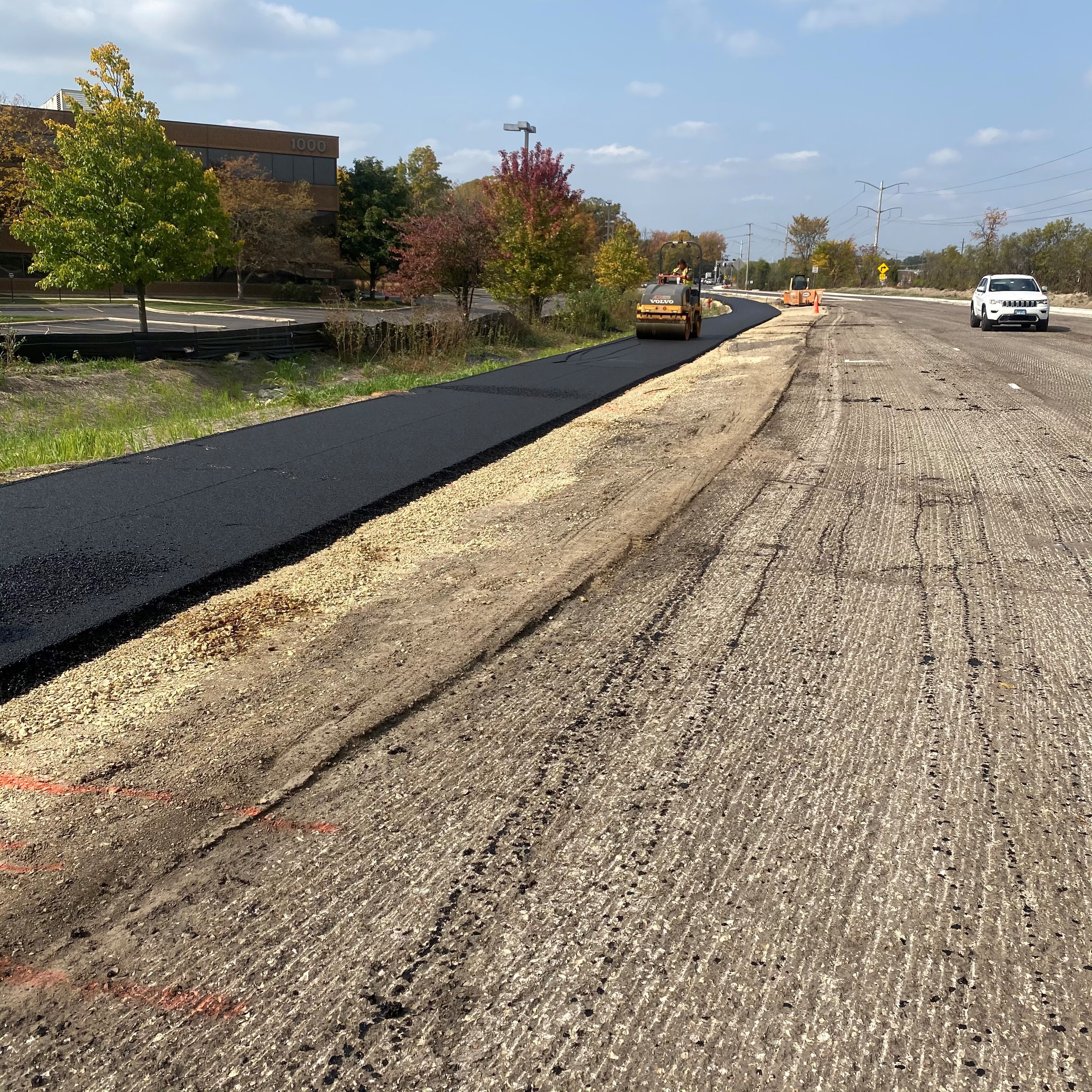 Rolling the Asphalt Shared Use Path on S. Hart Road