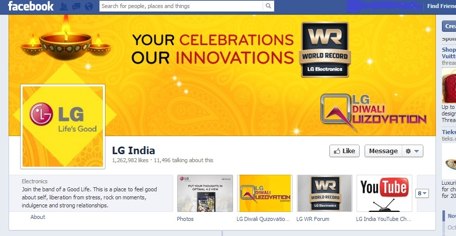 LG Facebook Social Media Marketing Diwali Festive Season