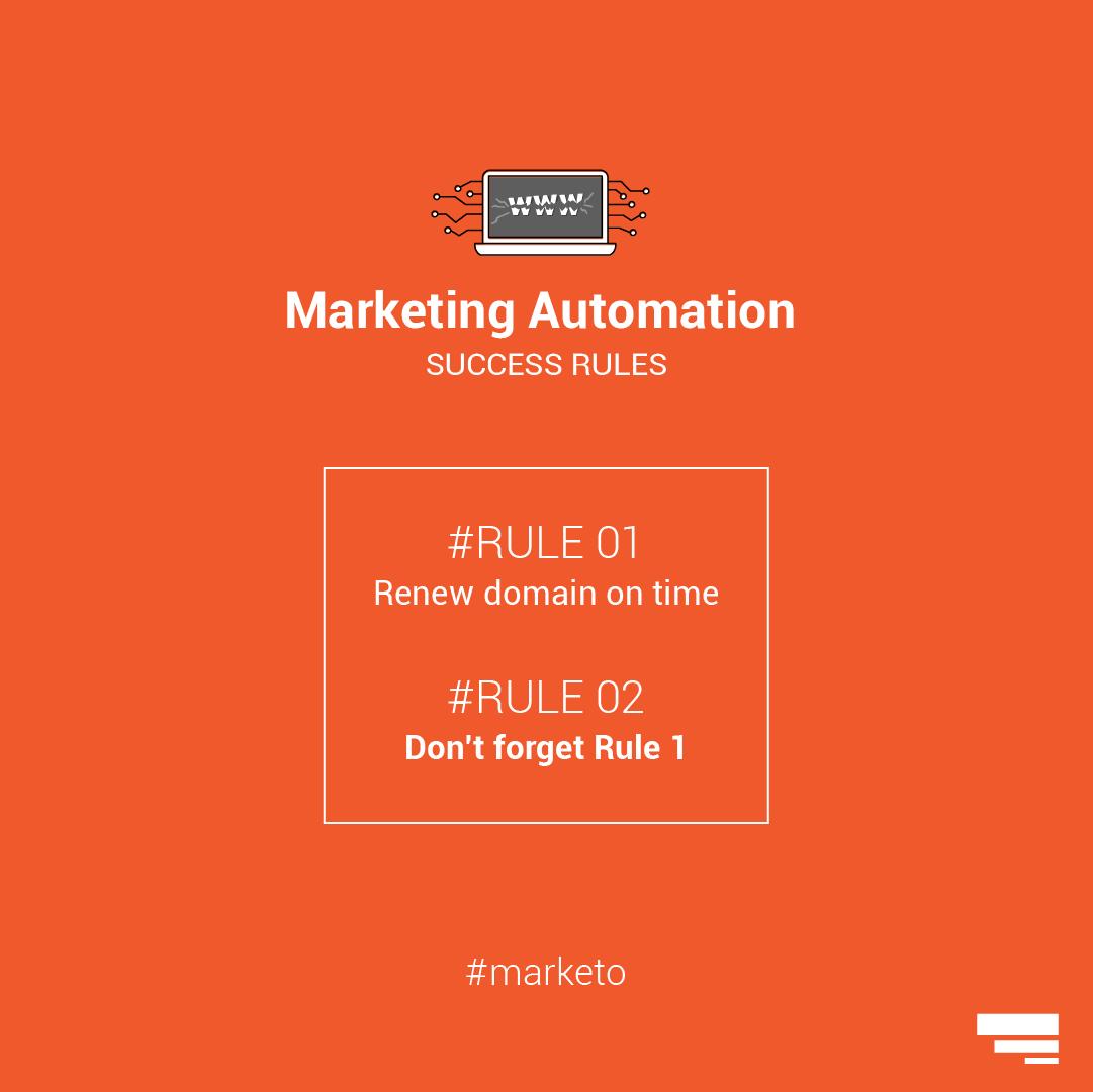 marketo domain expires success rules