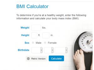BMI Calculator by Mayo Clinic