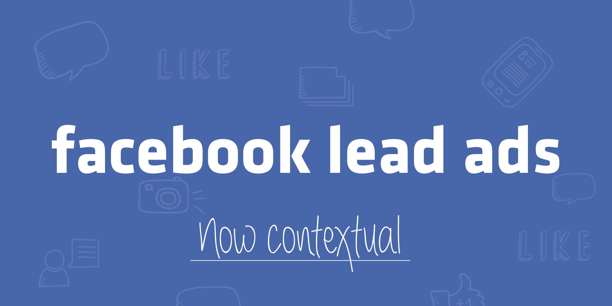Facebook lead ads context card