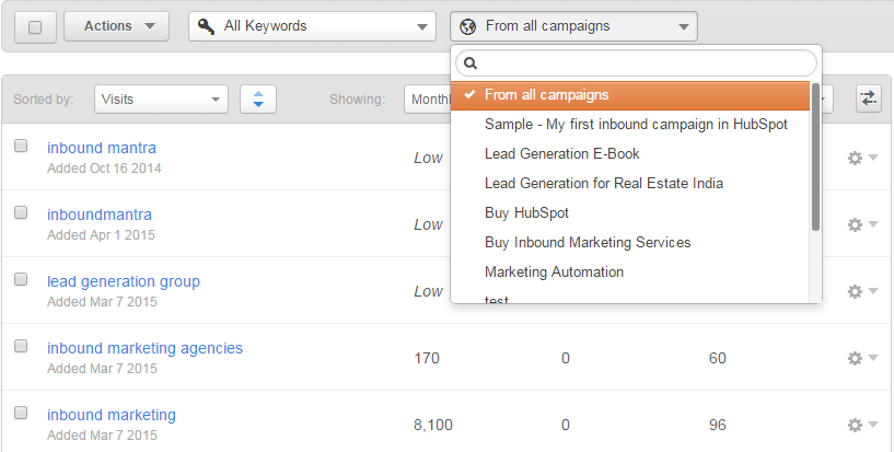 Hubspot_Keyword_Tool_Filter_By_Campaign