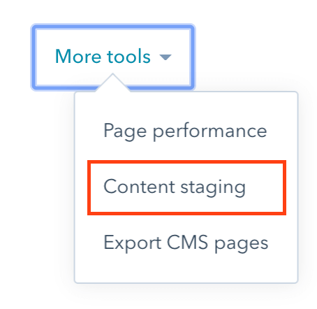 Content Staging in HubSpot COS