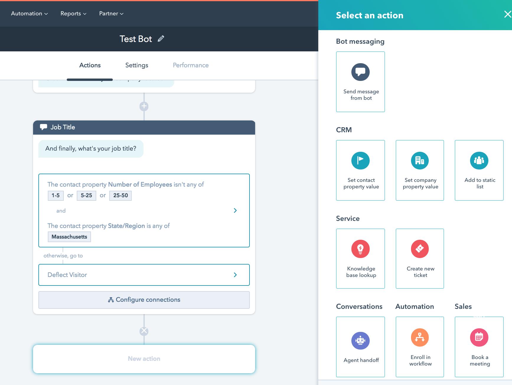 hubspot service hub conversation bot