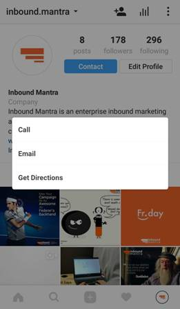 inbound mantra contact options