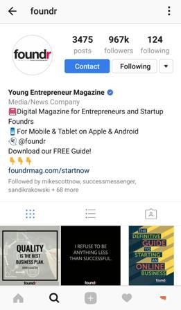 foundr business profile