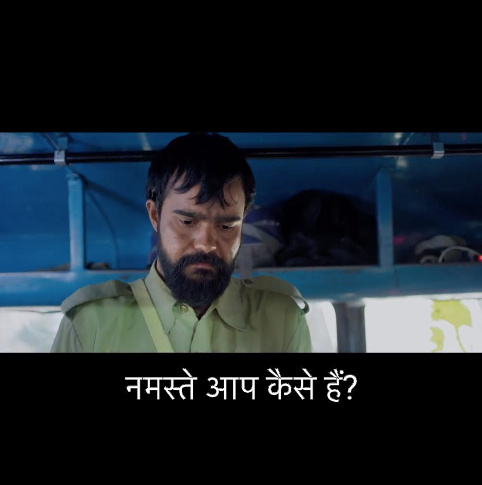 Add Captions in Hindi