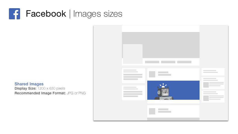 Facebook Ad size 2019