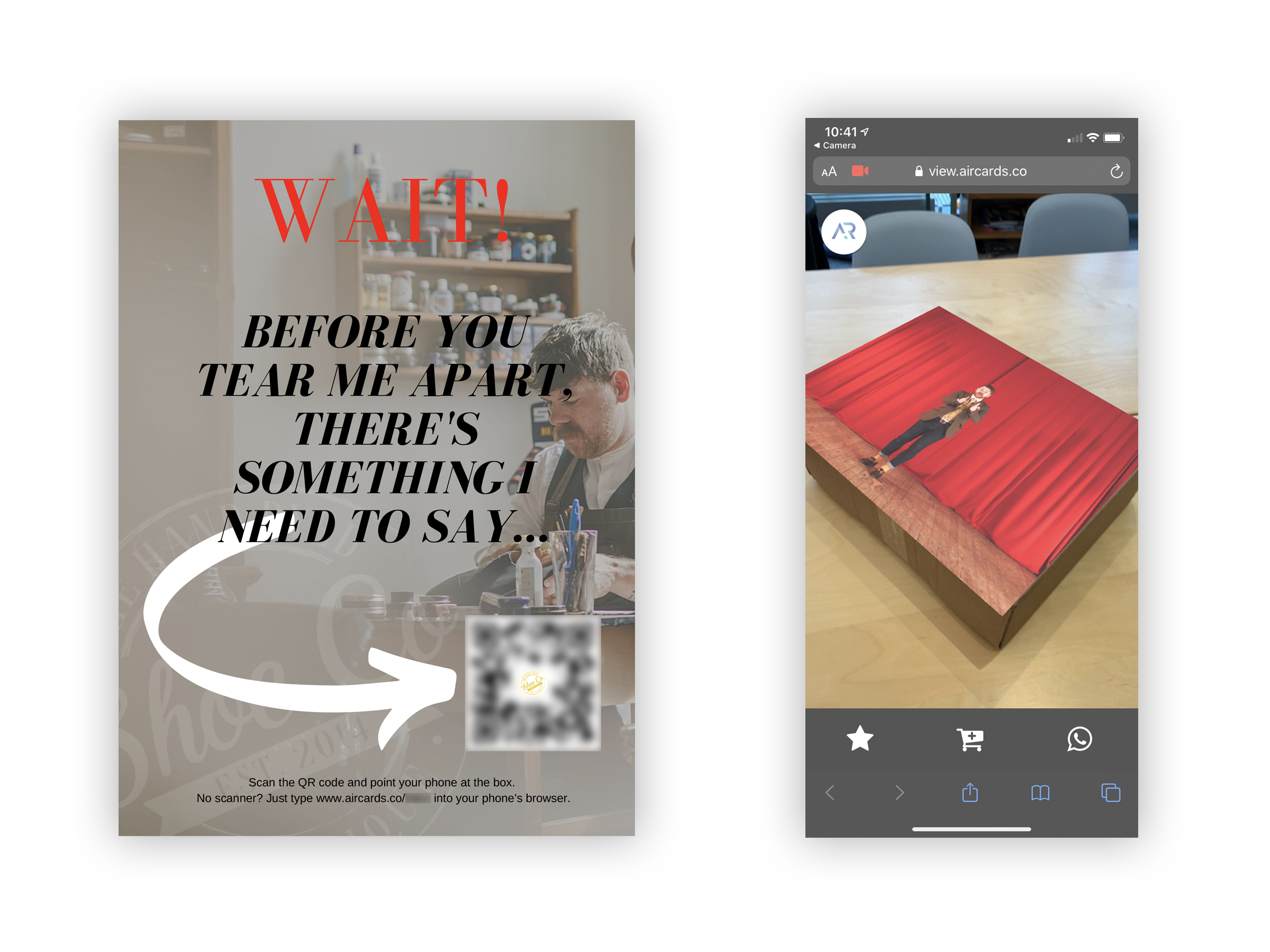 Augmented reality print examples