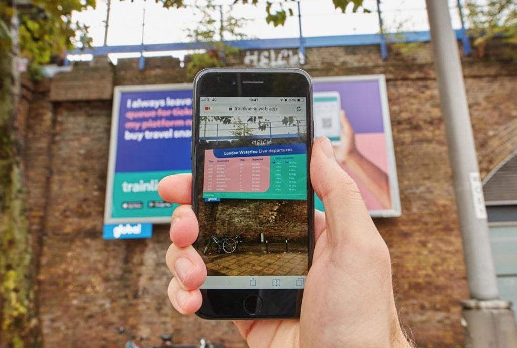 AR Web Based Train Line Campaign