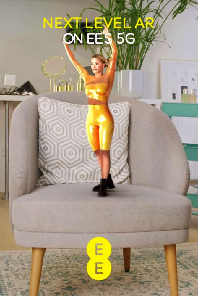 WebAR Mini Rita Ora EE Augmented Reality