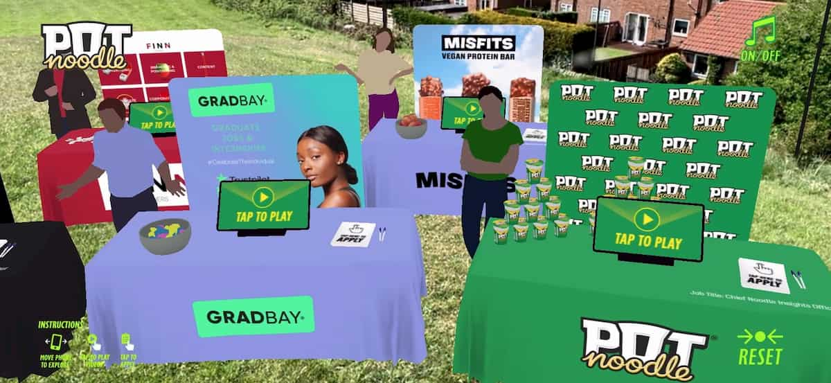Web-based Augmented Reality for Pot Noodle