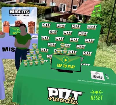 AR Events Pot Noodle Campaign