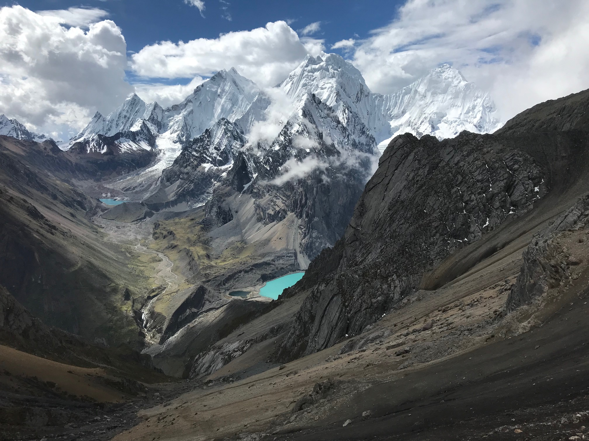 Views of the Cordillera Huayhuash