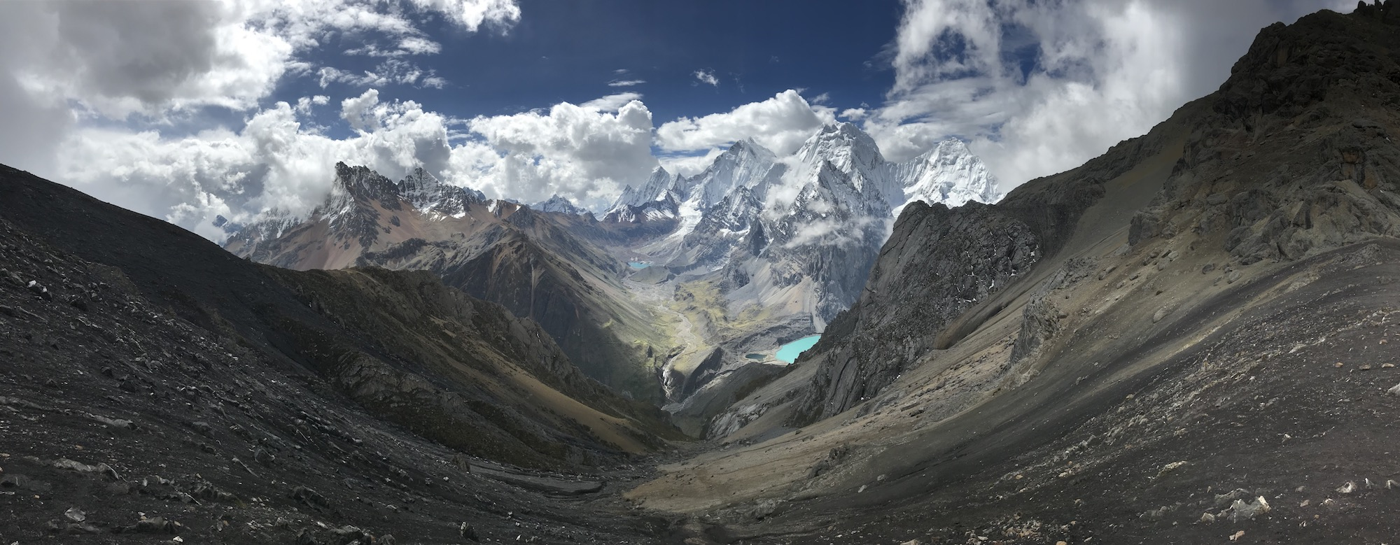 View of the Cordillera Huayhuash
