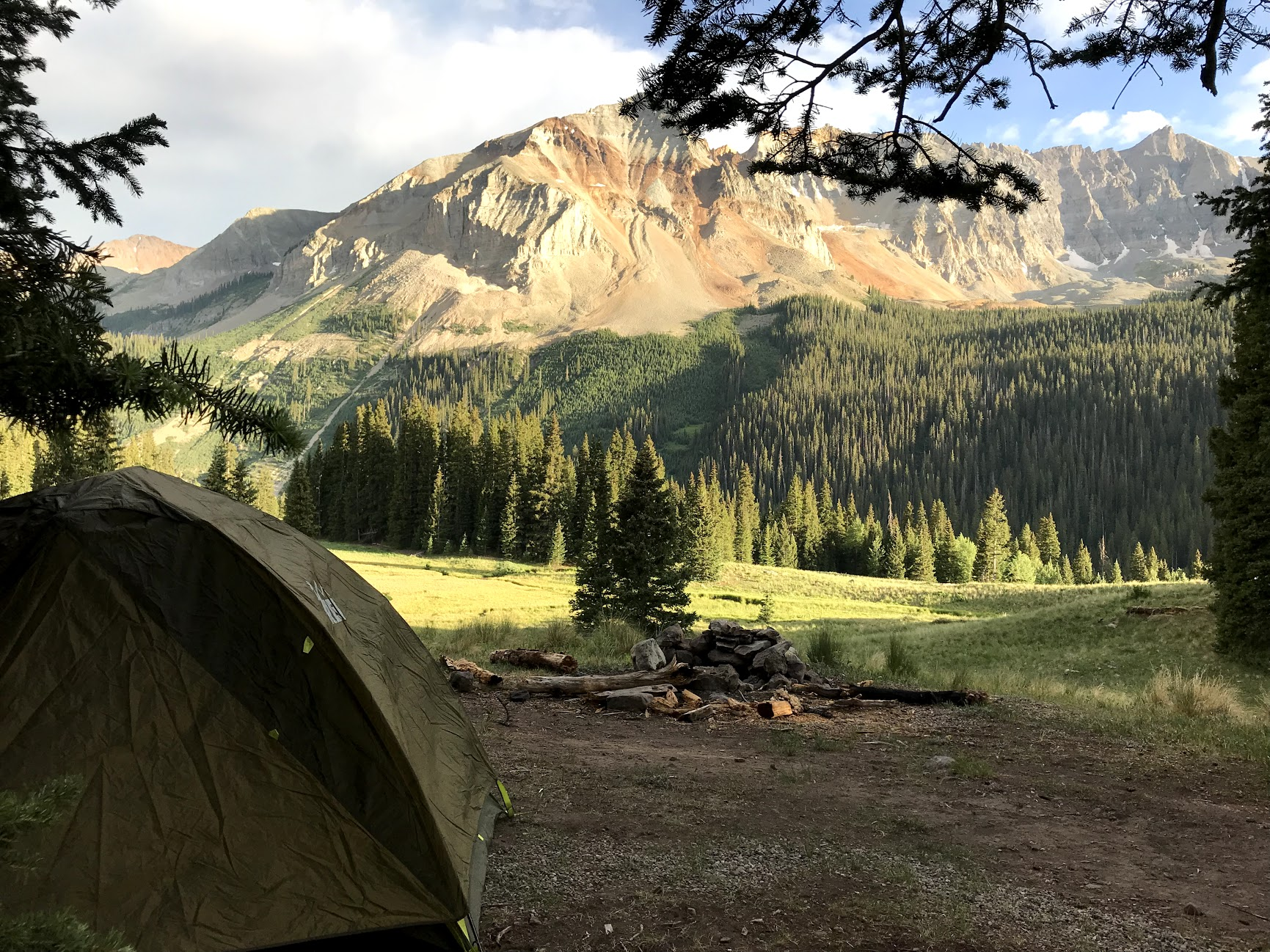 Camping near Ophir, Colorado