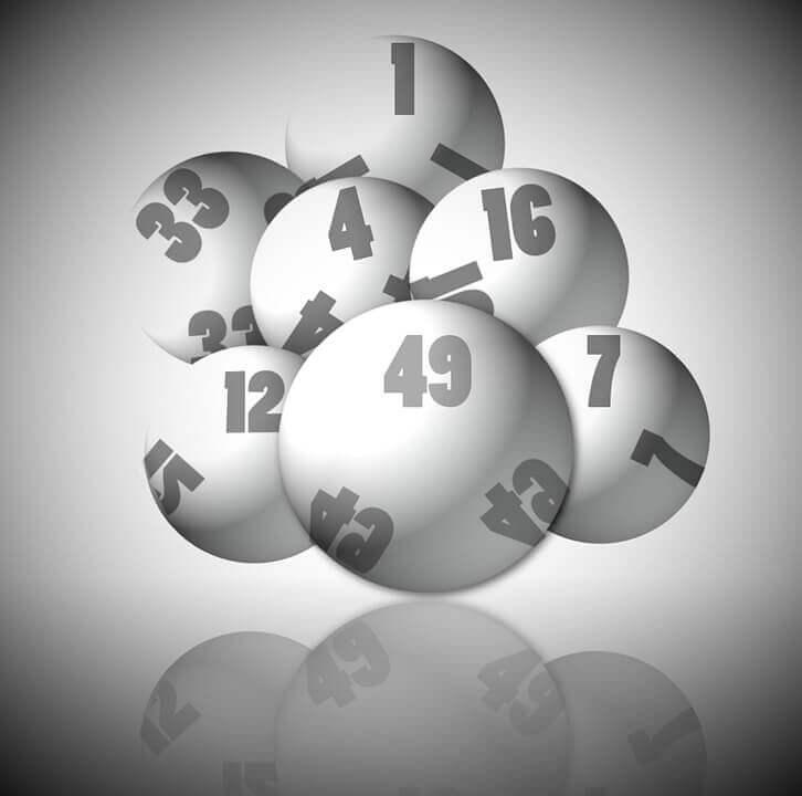 Cartoon lottery balls