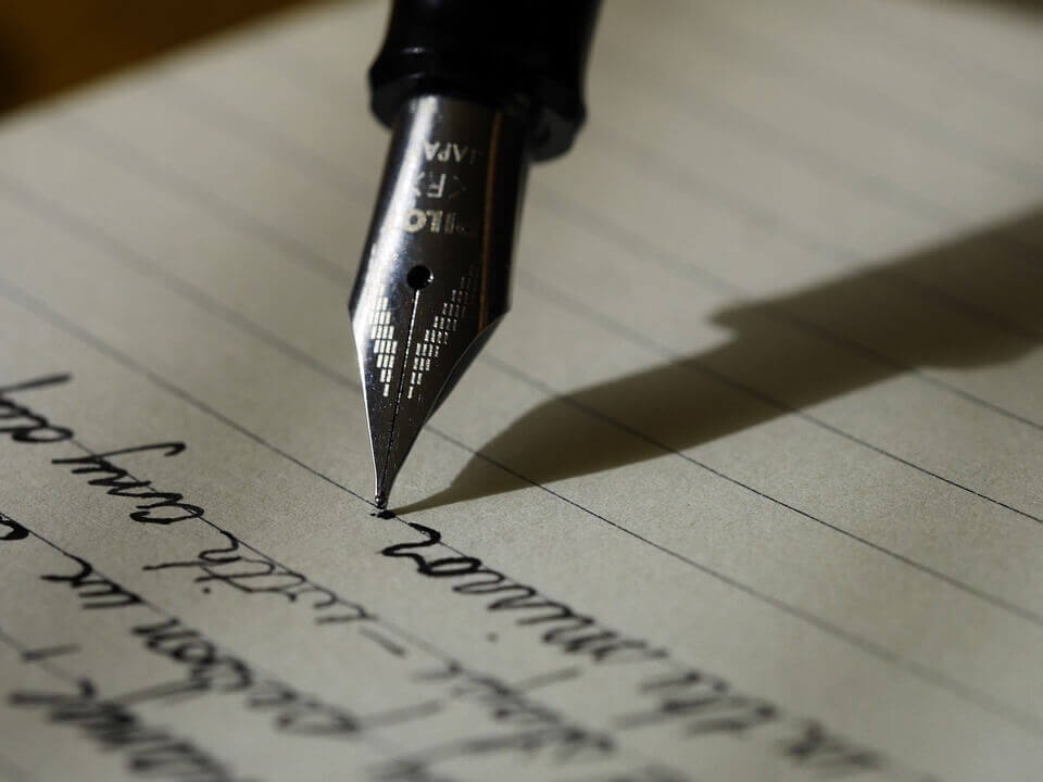 Close up of a pen.